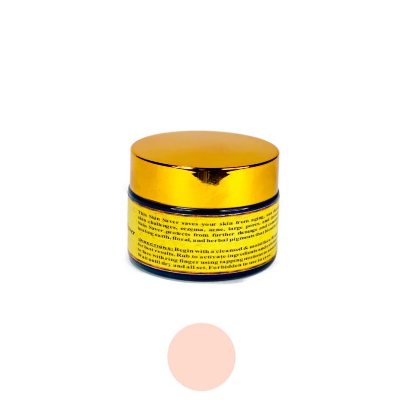 Multifunctional Skin Saver Light gold jar botanical makeup