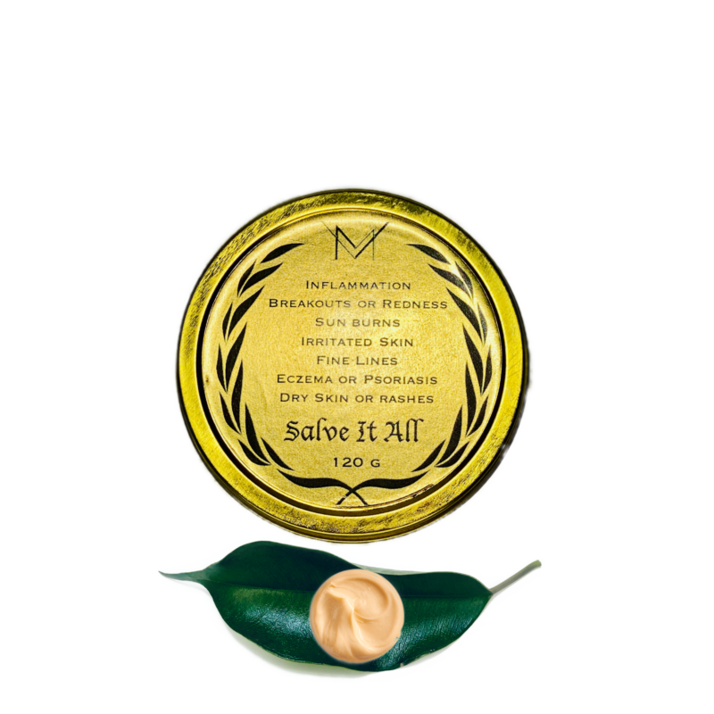 Salve it all healing salve in gold jar